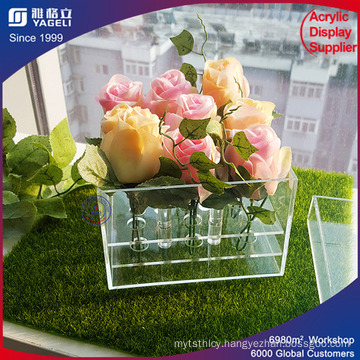 Unique Square Large Round Flower Acrylic Box
