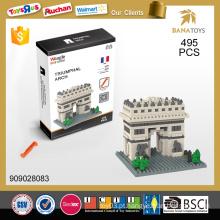 2015 Atacado dom itens 3d puzzle diy brinquedo 495PCS bloco de construção