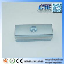 Ferro e ímã em um ímã permanente são metálicos magnéticos