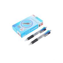 4 color in 1 Retractable durable large volumn smooth  0.7mm ball pen
