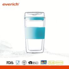 Vaisselle à bas prix superbe tasse à café en verre à double paroi