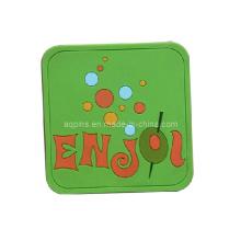 Coaster en PVC doux en forme de carré (Coaster-14)