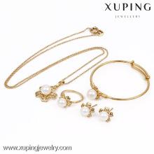 63531-Xuping оптом позолоченный Перл ювелирные наборы, ювелирные изделия