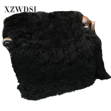 Full Pelt Fashion Mongolian Lamb Fleece Fur Koc