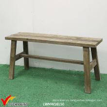 Único mobiliario casero antiguo silla de jardín de madera Banco