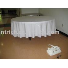 100% poliéster toalha de mesa, tampa de tabela do Hotel/banquete