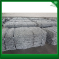 Blue hexagonal HDG gabion boxes