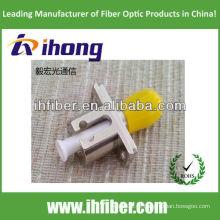 Adaptador híbrido de fibra óptica LC-ST tipo metal simplex