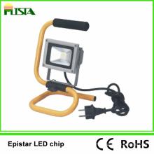 Lumière d'inondation portative de 10W LED avec la certification de RoHS