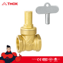 brass chrome plated with lock handle type gate valve