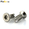 Stainless Steel Torx Flat Head Self Tapping PT Screws for Plastic