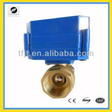 La válvula motorizada de HVAC y de los trabajos de fuego DN8 a DN32 la corriente más baja puede substituir la válvula de solenoide para el sistema de la HVAC y de la bobina del ventilador