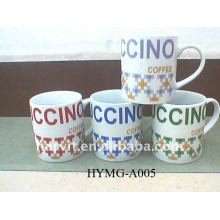 2014 Ceramic Promotional Mug/Letter Printing Mugs/Wholesale Hot Sale Water Mugs Cup