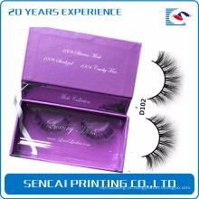 Embalagem de cílios de caixa de cílios de retalho magnético de logotipo privado