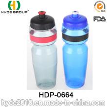 Garrafa de água plástica livre Biking do esporte de 750ml BPA, garrafa de água corrente plástica do PE (HDP-0664)