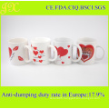 11oz Decal Printing Ceramic Coffee Cup for Valentine′s Day Gift