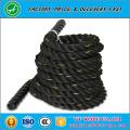 Corde 100% de matériel de polyester et de gymnase, 3 brins torsadés Type corde de bataille de 1,5 pouces et de 2 pouces