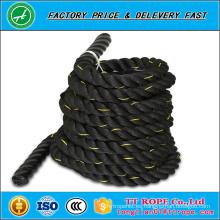 100% material de poliéster y cuerda de gimnasio, 3 hilos trenzados tipo 1.5 pulgadas y 2 pulgadas de cuerda de batalla
