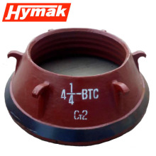 high manganese rock crusher parts bowl liner