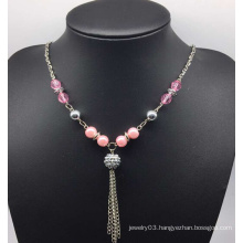 Colorful Pearl Sweater Necklace (XJW13753)