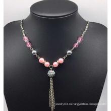 Красочные жемчужное ожерелье свитер (XJW13753)