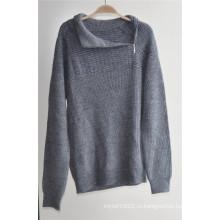 Зимний узорный с длинным рукавом вязаный пуловер для мужчин