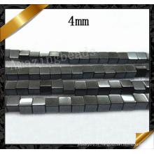 Perle de pierres précieuses en métal Hematite en métal naturel, bijoux en pierre noire à la main (GB0123)
