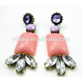 Cheap Simple Long Earrings, Low Price Long Pendant Crystal Earring