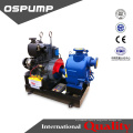 dirty water pump diesel engine drive self-priming trailer sewage pump unit