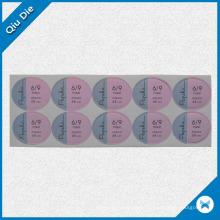 Custom Printing Round Adhesive Sticker for Garment