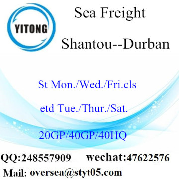 Shantou Port Sea Freight Shipping To Durban