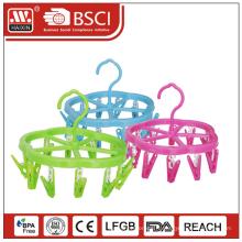 Cintre multifonction en plastique avec clips de 14