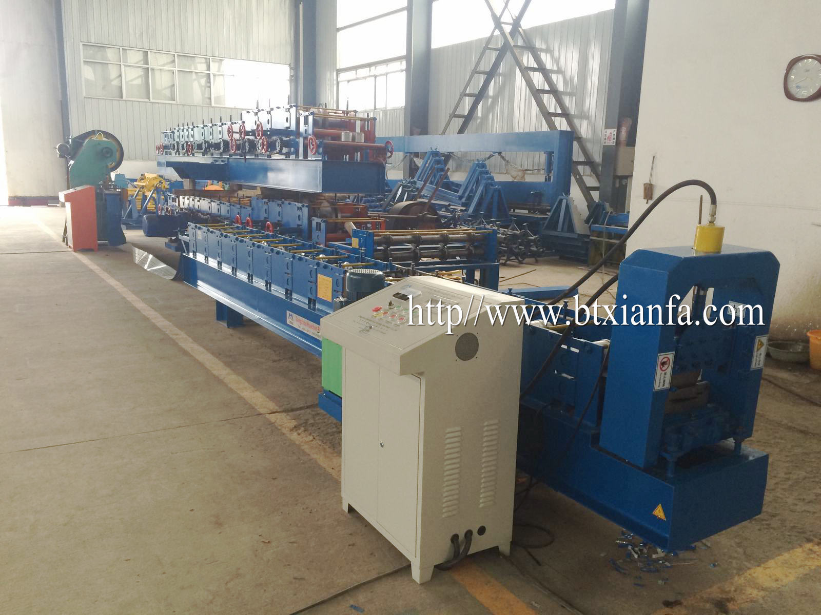 color coated profile machine