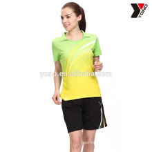 2016 latest design summer men badminton shirt sport wear custom sublimation