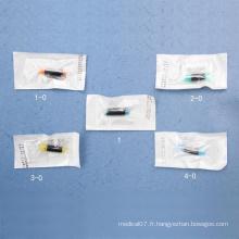 Suture de polyester stérile non absorbable médicale