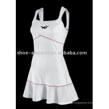 2013 última moda vestido de tenis blanco al por mayor, falda de tenis