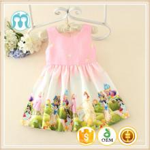 OEM SERVICE enfants cartons caractères robes naïfs enfants robe modèles personnalisés tailles en gros 100 pcs