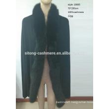 Fox Fur Cashmere Shawl