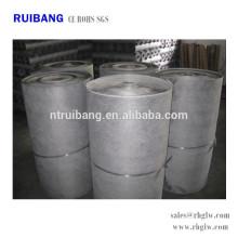 medios de colector de polvo paño de filtro de tela de carbón activado