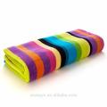 Colorful rainbow pattern super soft cotton beach towels 100% cotton