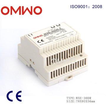 Omwo Wxe-30dr-48 LED Interruptor de trilho DIN Fonte de alimentação