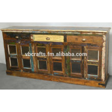 recycle wood sideboard w
