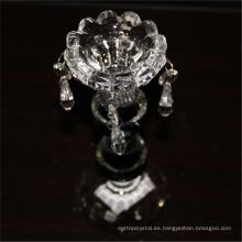 Mejor venta duradera usando cristal de la boda ronda de cristal transparente candeleros