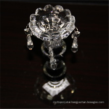 Best selling durable using wedding crystal round glass transparent candle holders