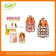Set de tenedor de fruta de jaula de pájaros, Palillo de dientes en forma de pájaro