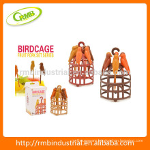 Bird Cage Fruit Fork Set,Bird Shaped Fruit Toothpick