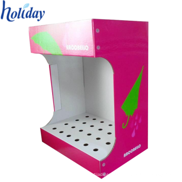Graphics customization cardboard floor display stand for promotion