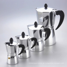 Lagerverkauf heißer Verkauf Aluminium italienische Induktionskaffeemaschine Moka Pot