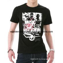 Baumwolle Mode Design Männer Siebdruck Benutzerdefinierte T-Shirt Herstellung in China