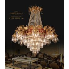 Latón clásico con lámpara colgante de cristal de la lámpara de lujo (FD-0606-8 + 4 + 4 + 1)